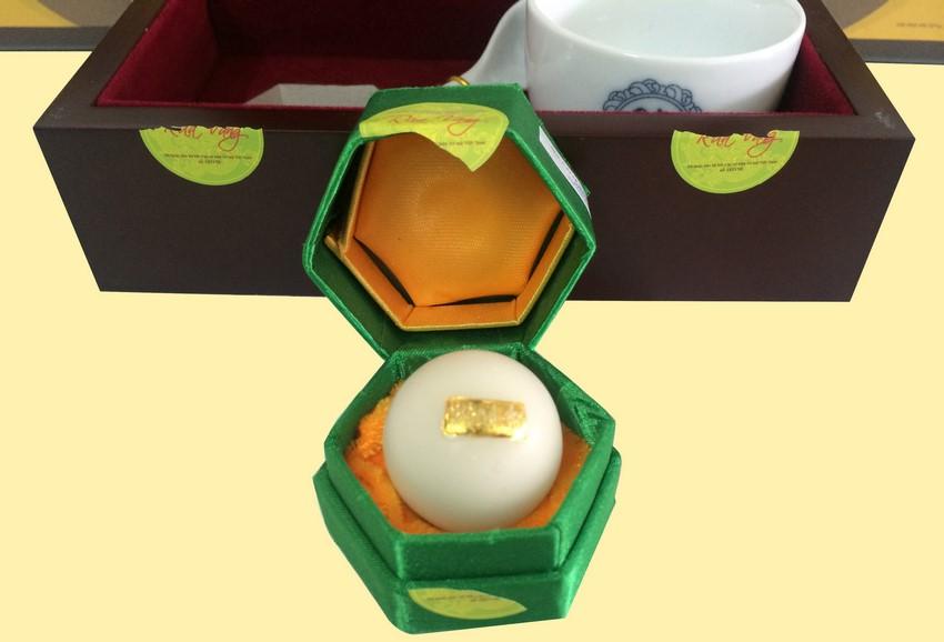 chi tiết viên an cung rùa vàng