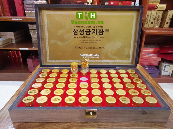 Kiện Não Hoàn Hàn Quốc SAMSUNG Hộp Gỗ 60 Viên JEE HWAN